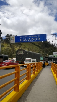 Kolumbiasta Ecuadoriin.